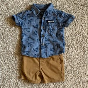 Timberland baby shirt & short set